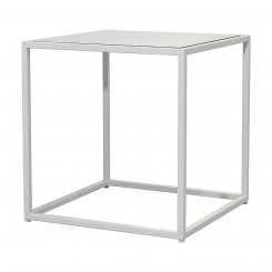 LESSO HOME Square Coffee Table, White Steel Frame