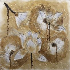 Lotus Pond Scenery Cloth Painting