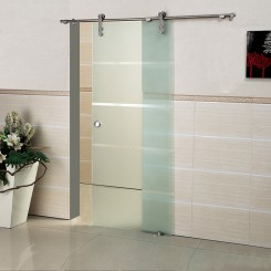 304 Stainless  Single Glass Panel Door Sliding Interior Glass Door