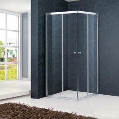 Toughen Glass Sliding Showers Surrounds Customized Size