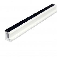 5.92M Long Glazing Bead, White Plastic Profile