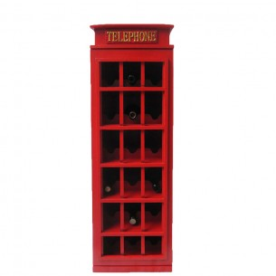 Telephone Booth Wine Rack