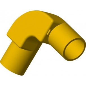 TIS PVC-U  Conduit 90° Inspection Elbow Yellow