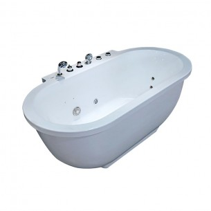 EAGO Whirlpool Massage Bathtub Free Standing