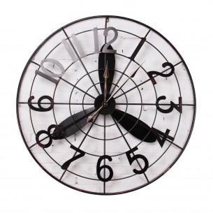 "40"" Wind Round Iron Metal Wall Clock"
