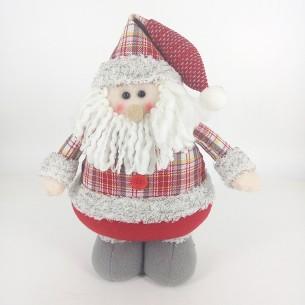 Weishideng Christmas Decorations Fabric Santa Doll Red&Gray FG01-10563A