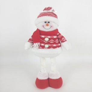 Weishideng Christmas Decorations Fabric Snowman Doll Red&White FG01-73B