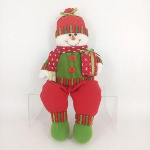 Weishideng Christmas Decorations Fabric Snowman Doll Red&Green FG01-906B