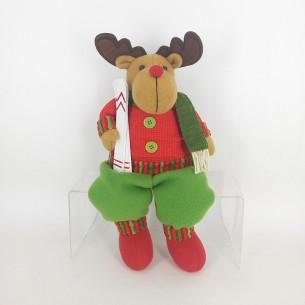 Weishideng Christmas Decorations Fabric Deer Dollred&Green FG01-906D