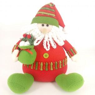 Weishideng Christmas Decorations Fabric Santa Doll Red&Green FG01-912A