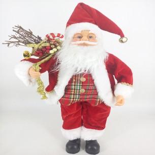 Weishideng Christmas Decorations Fabric Santa Doll Red&White FG07-610271
