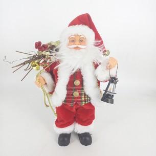 Weishideng Christmas Decorations Fabric Santa Doll Red&White FG07-610272
