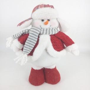 Weishideng Christmas Decorations Fabric Snowman Doll Red&Gray FG19-162071C