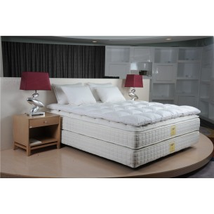 Hotel Bed Topper White