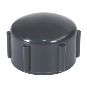 ASTM PVC Water SCH80 Cap (FIPT) Dark Gray