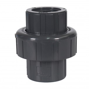 ASTM PVC Water SCH80 Union with O-Ring Seal (SXF)  Dark Grey
