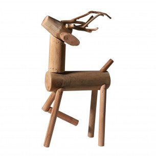 Plain Style Wooden Deer Table Decor