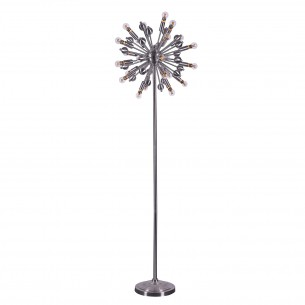 Satin Nickle Iron Floor Lamps