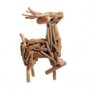 Strutting Deer Wooden Craft for Home Decoration