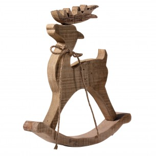 Wooden Deer Table Decor on A Stand