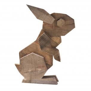 Wooden Rabbit Craft for Ornament