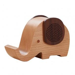 Wood Wireless Bluetooth Speaker Elephant Shape