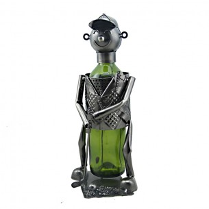 Golfer Wine Holder Iron Handmade JX-10351