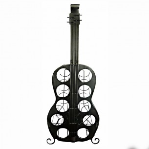 Guitar 10 Bottle Wine Holder Iron Handmade JX-10547