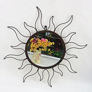 Decorative Metal Sun Wall Mirror