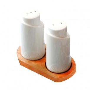 Porcelain Threaded Cylindrical Seasoning Bottle