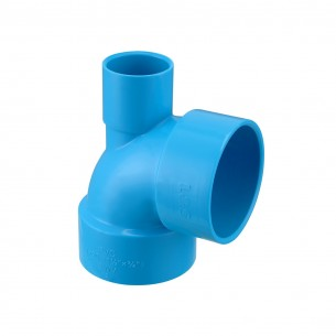40×20mm (11/2×3/4in.) TIS PVC-U  Drainage Vent Tee Blue