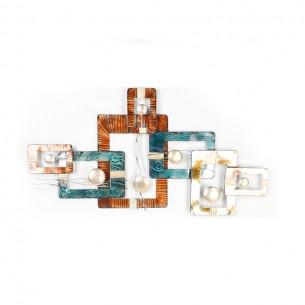 Homeydecor Metal Rectangle Decor ZL65370