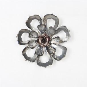 Homeydecor Metal Wall Decor Single Flower ZL65301