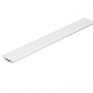 "5.49M Long 1"" Main Glazing Bead, White Plastic Profile"