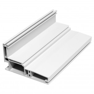 5.92M Long Casement Frame, White Plastic Profile