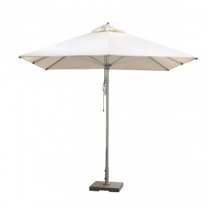 LESSO HOME 2.6M Patio Market Umbrella Beige, Aluminum Frame
