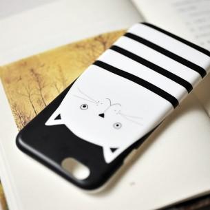 Mobile Case Set Box White Cat