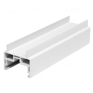 4M Long H-Mullion, White Plastic Profile