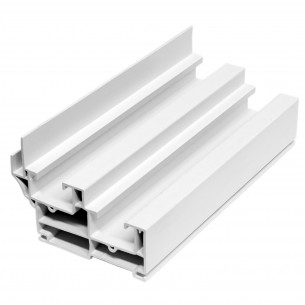 5.92M Long Double Hung Frame, White Plastic Profile