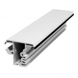 5.92M Long Single Hung Mullion, White Plastic Profile