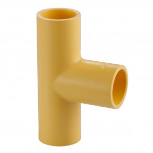 TIS PVC-U  Conduit Tee Yellow
