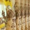 Simple European Style Cream-colored Chenille Curtain