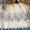 European Style Blue & Beige Velvet Curtain Set