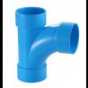 TIS PVC-U  Drainage Reducing Long Sweep Tee Blue