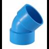 TIS PVC-U Water 45°Elbow Blue